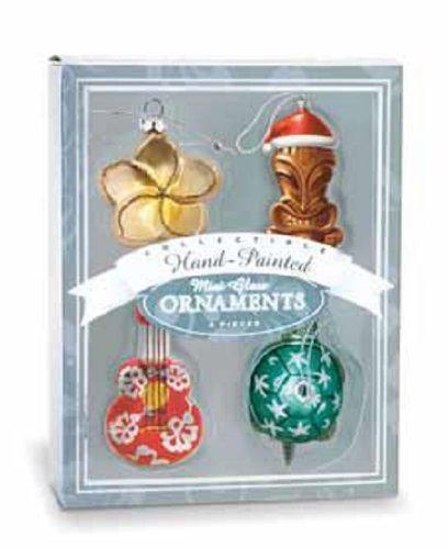 Island Heritage Island Holiday Tree Collectible Glass Ornaments, Mini