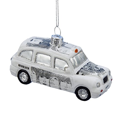 Kurt Adler Glass Beatles Revolver London Taxi Ornament