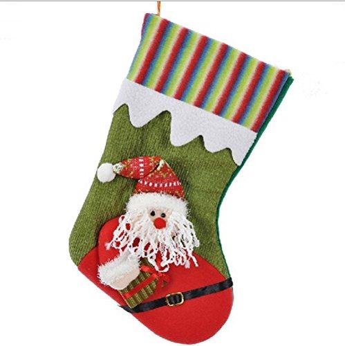 Happy Holiday Christmas Santa Socks Chiristmas Decorations Ornaments Costume Stocking (O1-10A)