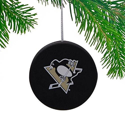 Pittsburgh Penguins NHL 4- Pack Mini Puck Set Christmas Ornaments