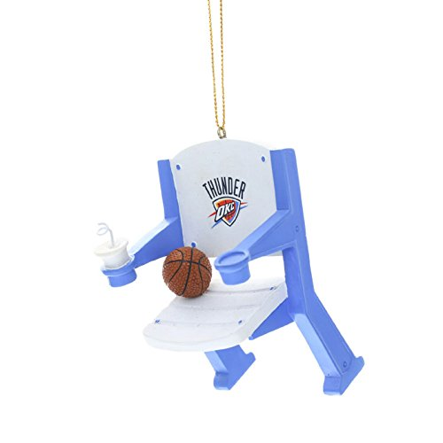 Oklahoma City Thunder Official NBA 4 inch x 3 inch Stadium Seat Christmas Ornament