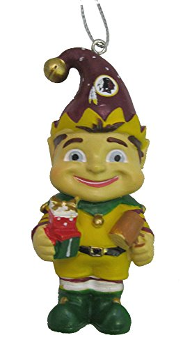 NFL Washington Redskins Elf Team Christmas Ornament – 3″