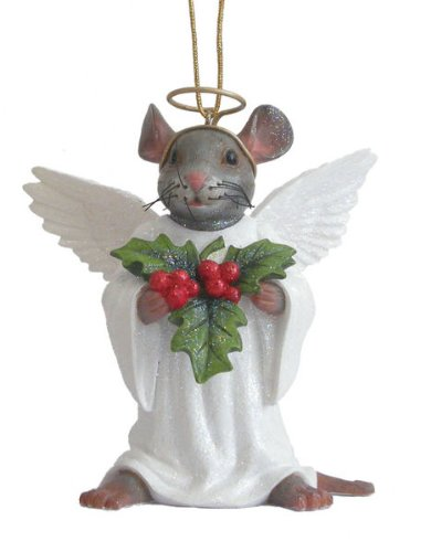 December Diamonds Angel Mouse with Holy Holiday Ornament