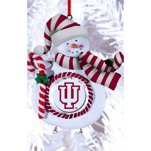 Indiana University Jolly Snowman Christmas Ornament