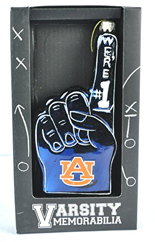 Auburn Tigers Glass Christmas Ornament We're #1 War Eagle