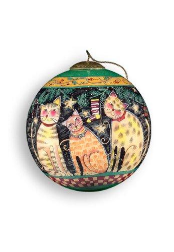 Christmas Cats Glass Ornament – Ne'Qwa Art