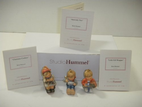 Studio Hummel Set 1 # 96031 Christmas Ornament Collection … Heavenly Trio , Christmas Cookies , Little Gift Wrapper FIRST IN A SERIES