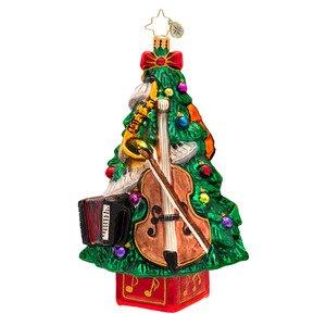 Christopher Radko Trees Tunes Glass Christmas Ornament 2014
