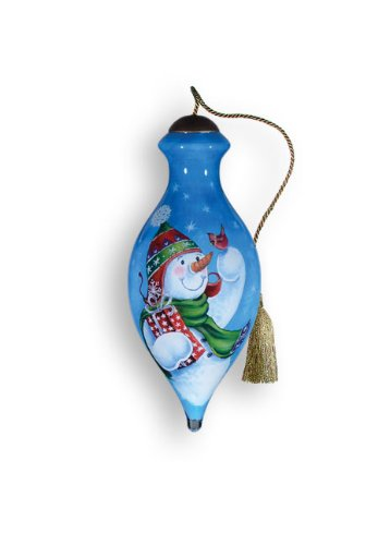 Ne'Qwa Art A Gift For Christmas – New for 2012 – Glass Ornament Hand-Painted Reverse Painting Distinctive 735-NEQ