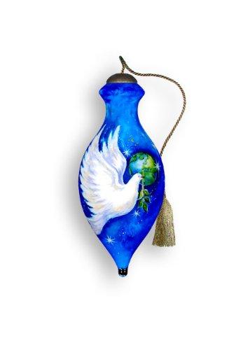 Ne'Qwa Art Peace Dove – Glass Ornament Hand-Painted 619-NEQ