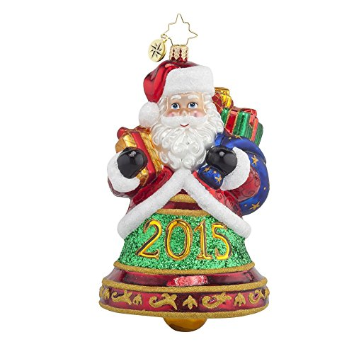 Christopher Radko 2015 Santa Clapper Glass Christmas Ornament – 5.5″h.