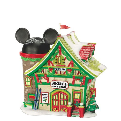 Department 56 Disney Village Lit House, Mickey's Ski Chalet