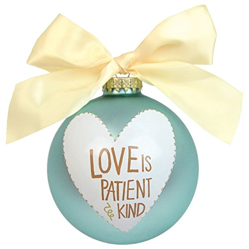 Love is Patient & Kind Glass Ornament
