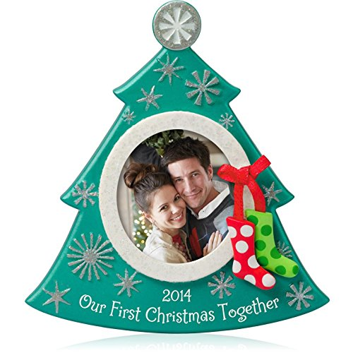 Hallmark QGO1173 Our First Christmas Photo – 2014 Christmas Keepsake Ornament
