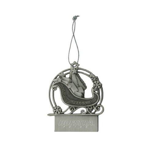 Hofstra Pewter Sleigh Ornament 'Hofstra Pride Wordmark Engraved'