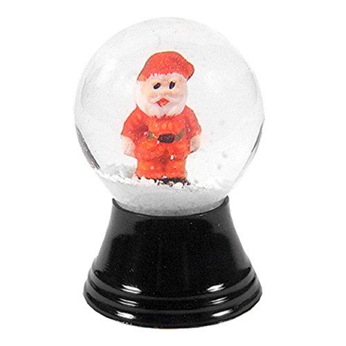 Alexander Taron PR1163-Perzy Snowglobe, Mini Santa – 1.5″H x 1″W x 1″D
