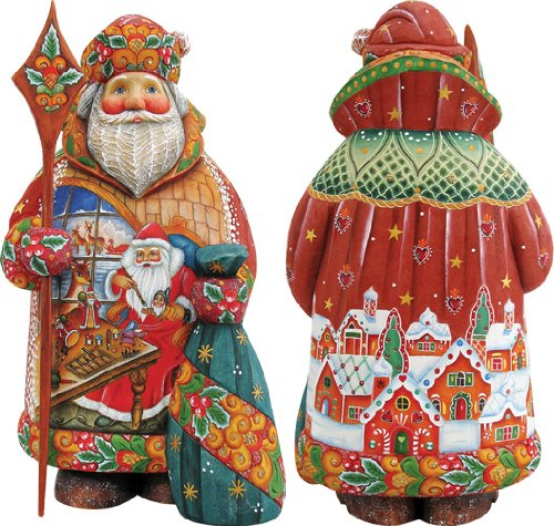 G. Debrekht 51458 Santa Workshop Figurine, 9-Inch