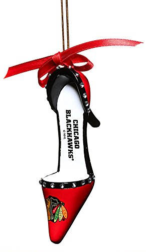 Chicago Blackhawks Official NHL 3 inch x 1.5 inch Team Shoe Ornament