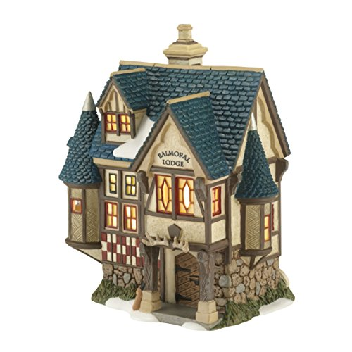 Department 56 Dickens Village Balmoral Lodge Lit House, 7.1-Inch