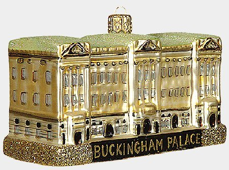 Buckingham Palace Polish Glass Christmas Ornament