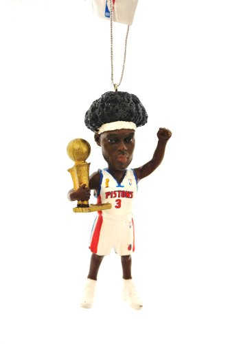 Ben Wallace Detroit Pistons Championship rare Limited Edition Hand painted XMAS Tree Ornament