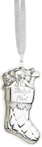 Reed & Barton Baby's First 2013 Christmas Ornament, 3-1/2-Inch