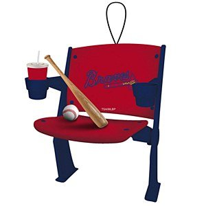 Atlanta Braves Official MLB 4 inch x 3 inch Stadium Seat Ornament