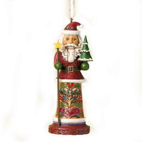 Enesco Jim Shore Heartwood Creek Santa Nutcracker Ornament, 5-Inch