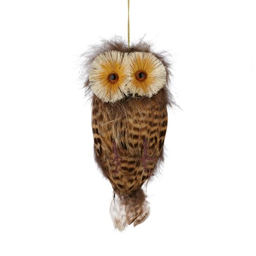 Department 56 Claus Feathered Owl Ornament, 6-Inch