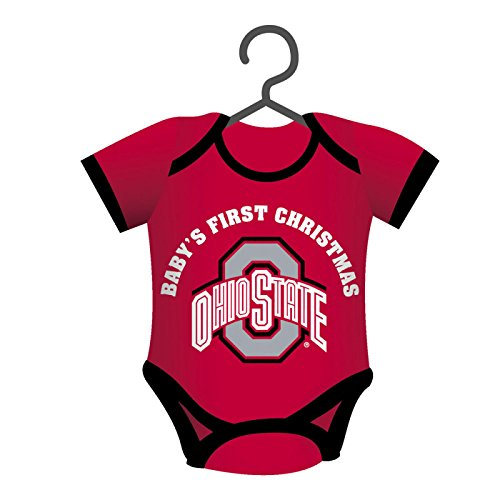 Ohio State Buckeyes Official NCAA 4 inch x 3 inch Baby Shirt Christmas Ornament