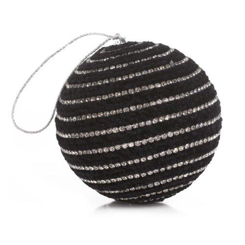 Sage & Co. Rhinestone Ball Black Christmas Ornament