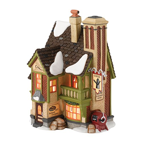Department 56 Dickens Village Camden Coffee Lit House, 6.8-Inch