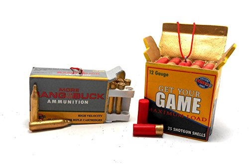 Shotgun and Rifle Shell Box Ornaments Set of 2 By Midwest-cbk