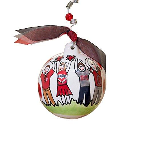 Glory Haus Ohio State Ball Ornament, 4-Inch