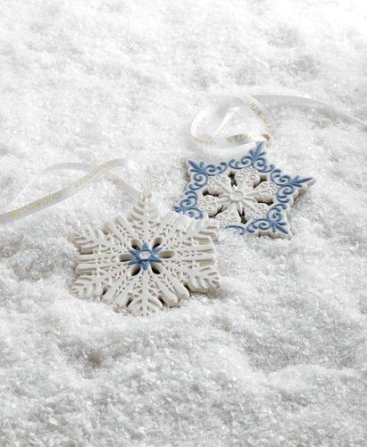 Wedgwood China – Set of 2 Snowflake Christmas Ornaments – Individual Boxes