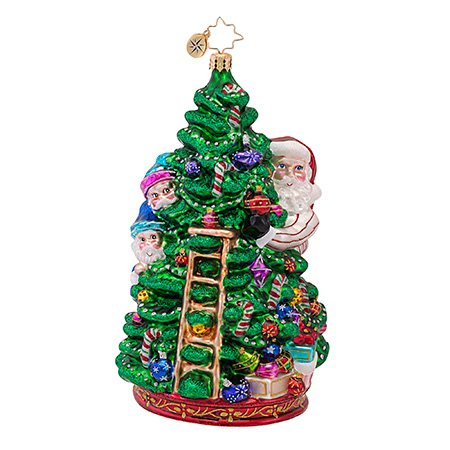 Christopher Radko Tree Trimming Party Glass Christmas Ornament – From Scenes from the North Pole Collection – New for 2013 – 6.5″H.