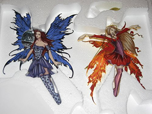 """Fairy Illusions """"Fuschia in Bloom"""" and """"Fairy Magic"""" Ornaments by Amy Brown"""