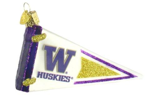 NCAA Washington Huskies Glass Pennant Ornament