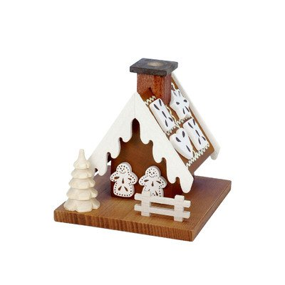 "1-033 – Christian Ulbricht Incense Burner – Gingerbread House – 3.5″""H x 3.5″""W x 3.5″""D"