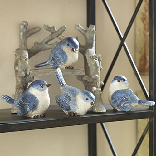 RAZ Imports Blue 2″ Birds Set of 4
