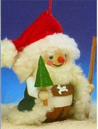 Steinbach Bavarian Santa with Green Tree Wooden Ornament