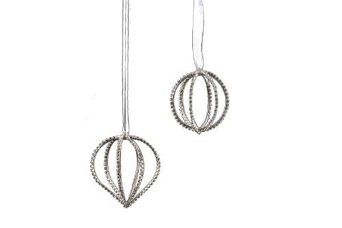 Sage & Co. Diamond Christmas Ornament, Set of 2