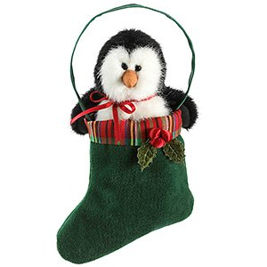 Boyds Bears Tartenbeary Plush Ornament – Willy Penguin – 5″