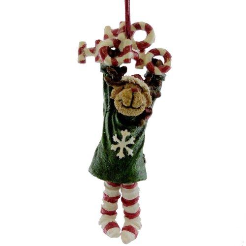 Boyds Bears Resin Ho Ho Ho Moose Ornament Christmas – Resin 4.50 IN