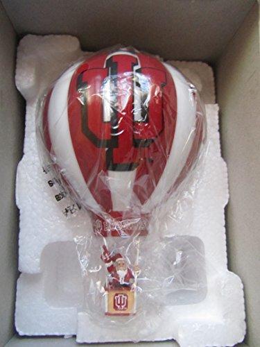 Danbury Mint Christmas Ornament 2004 IU Hoosiers Hot Air Balloon with Team Box