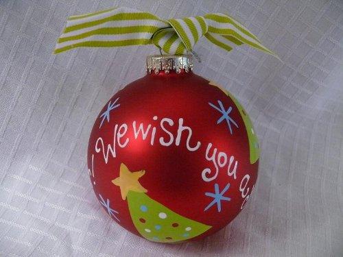 Coton Colors We Wish You Holiday Christmas Ornament
