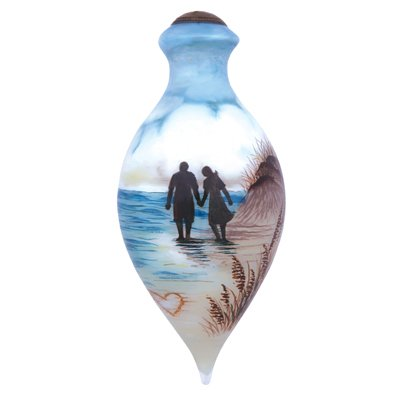 The Rest of Forever 6.5″ Glass Ornament by Ne' Qwa Art