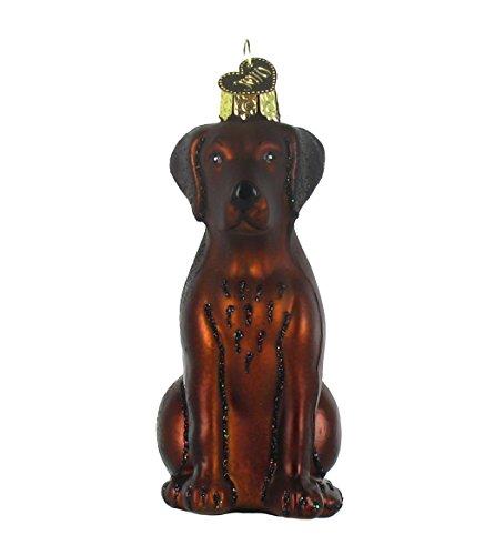 Old World Christmas Chocolate Labrador Retriever Glass Ornament