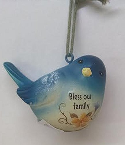 Bless Our Family – Blue Bird Of Happiness Ornament by Ganz