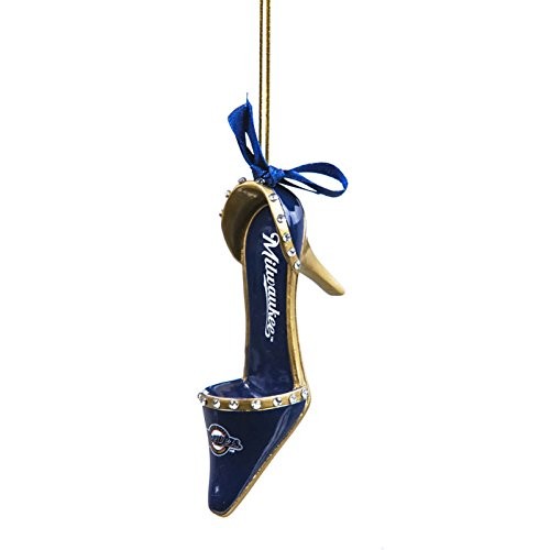 Milwaukee Brewers Official MLB 3 inch x 1.5 inch Team Shoe Ornament
